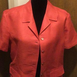 Emma James/ Liz Claiborne short sleeve jacket